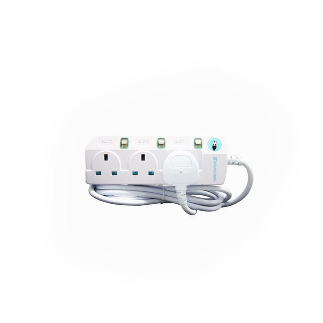 SOUNDTEOH 3 Way Extension Socket (2 Metres) - 0