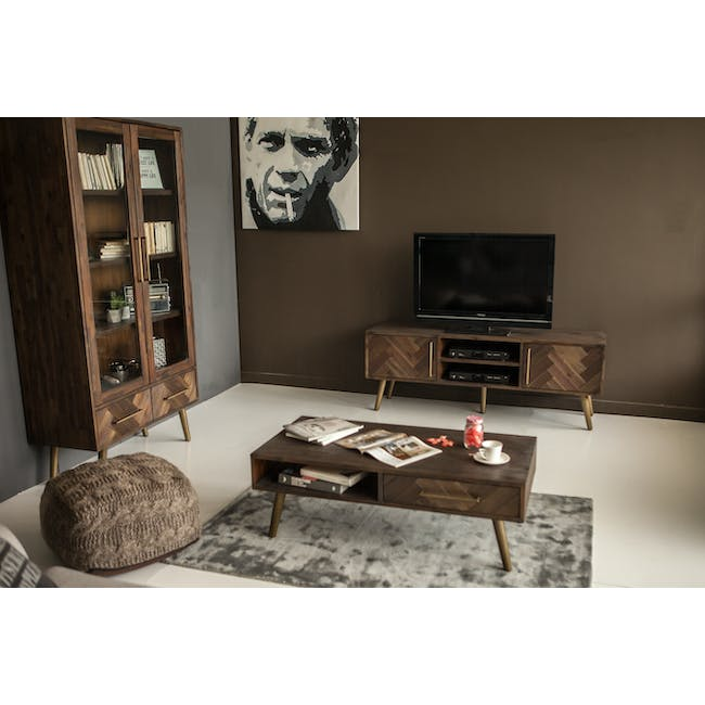 Cadencia TV Console 1.65m with Cadencia Twin Drawer Coffee Table - 1
