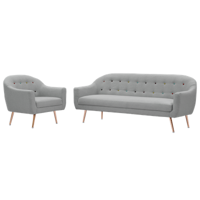 Arden 3 Seater Sofa with Arden Armchair - Image 2