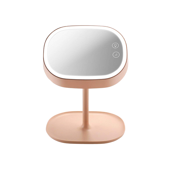 Led Light Vanity Mirror Pink Lights By Hipvan Hipvan