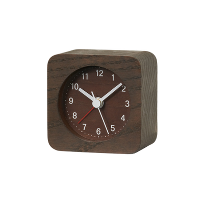 Rest Square Alarm Clock - Brown - Image 2