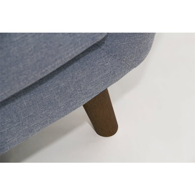 Emma 3 Seater Sofa with Emma Armchair - Dusk Blue - 7