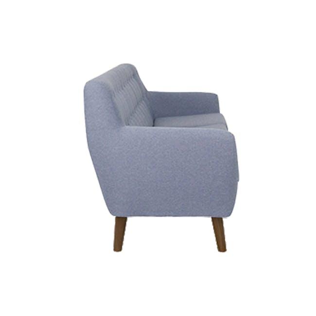 Emma 3 Seater Sofa with Emma 2 Seater Sofa - Dusk Blue - 4