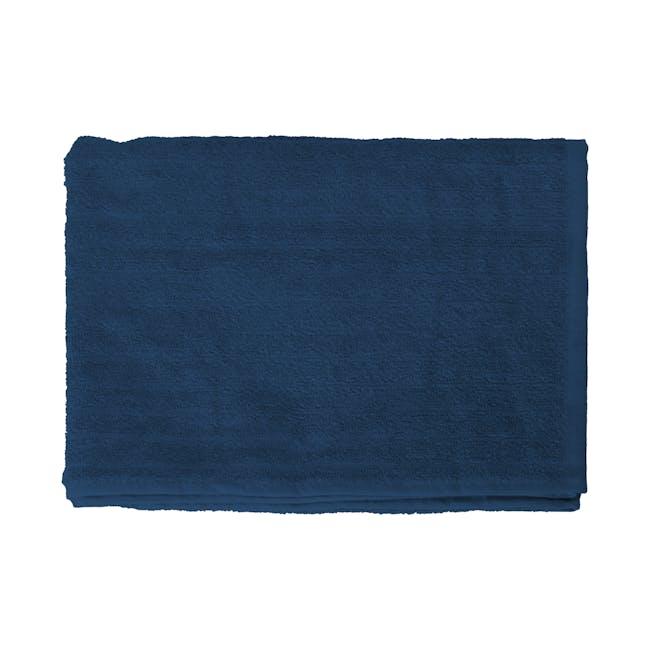 EVERYDAY Bath Towel - Navy Blue (Set of 4) - 1