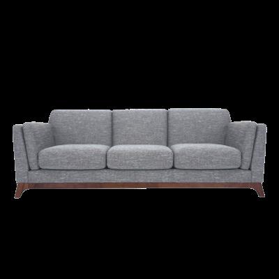 (As-is) Elijah 3 Seater Sofa - Cocoa, Pebble -3 - Image 1