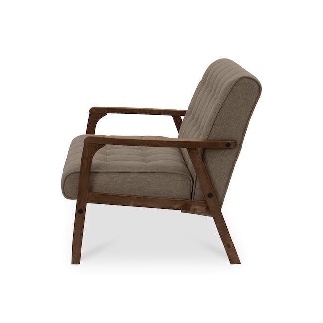 Tucson 2 Seater Sofa with Tucson Armchair - Chestnut (Fabric) - 3