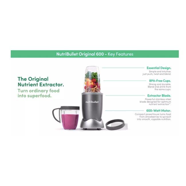 NutriBullet 600W Personal Blender - Matte Black - 5