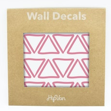 Doodle Triangle Wall Decal (Pack of 48) - Pink