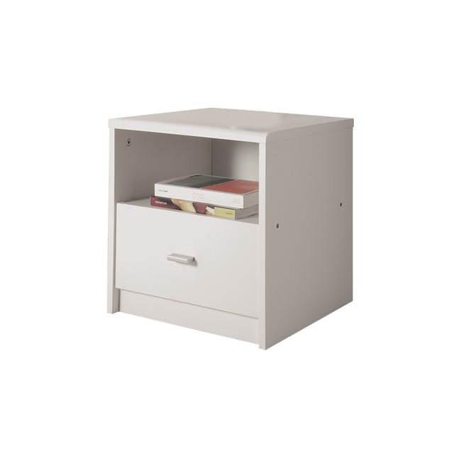 Willy Bedside Table - White - 0