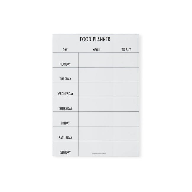 Weekly Food Planner - White - 0