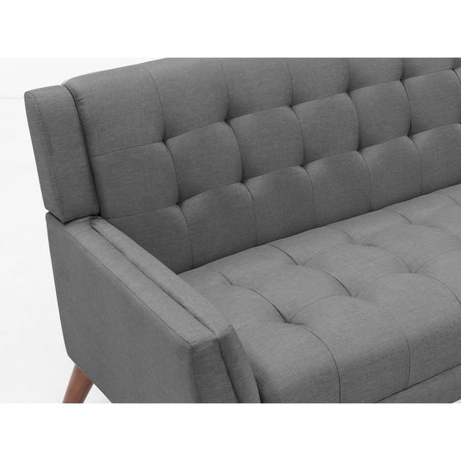 Stanley 2 Seater Sofa with Stanley Armchair - Siberian Grey - 9