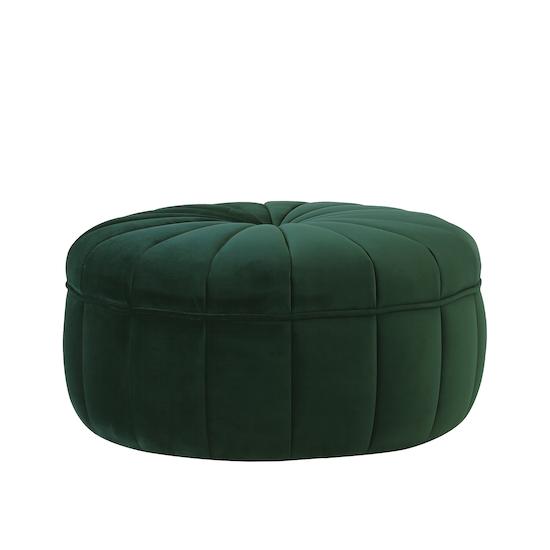Laholm - Ekko Pouf - Dark Green (Velvet)