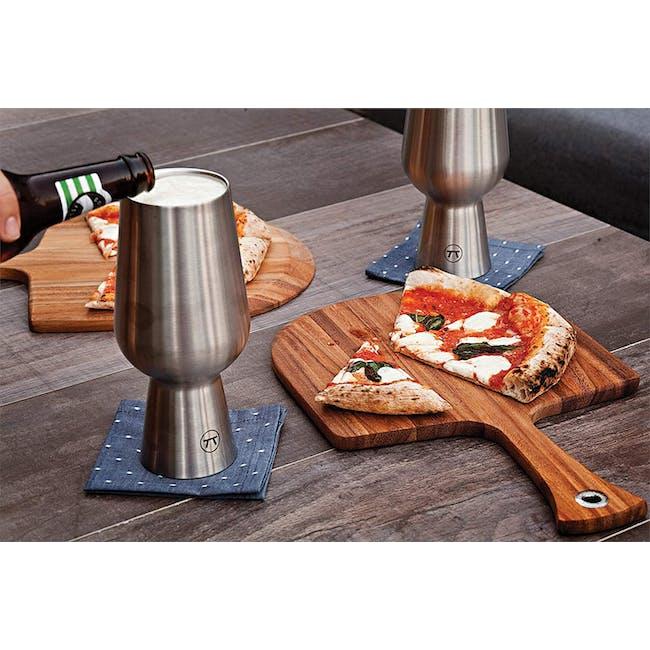 Ironwood Pizza Acacia Wood Cutting Serving Board - 3