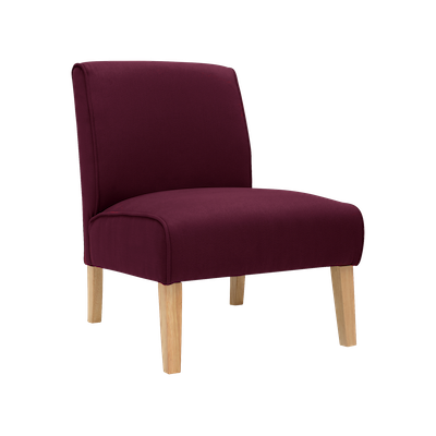 Maya Lounge Chair - Natural, Ruby - Image 1