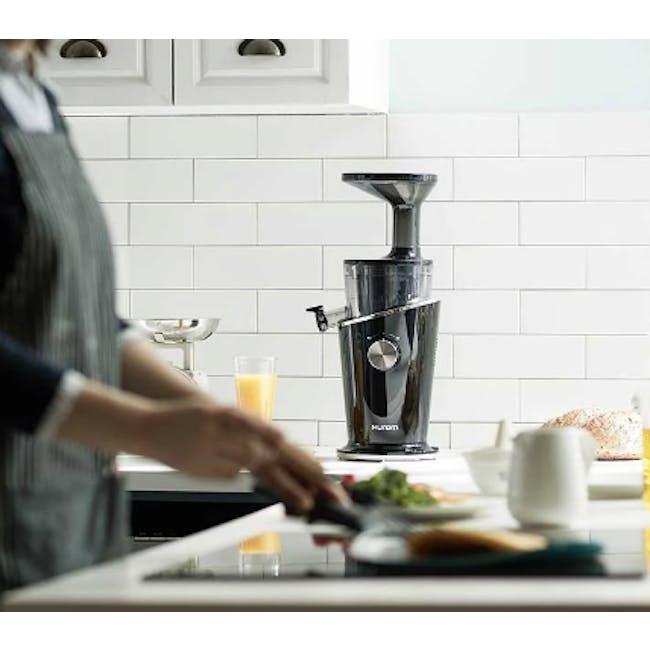 Hurom H100s Cold Pressed Slow Fruit Juicer Easy Series - Black Pearl - 1