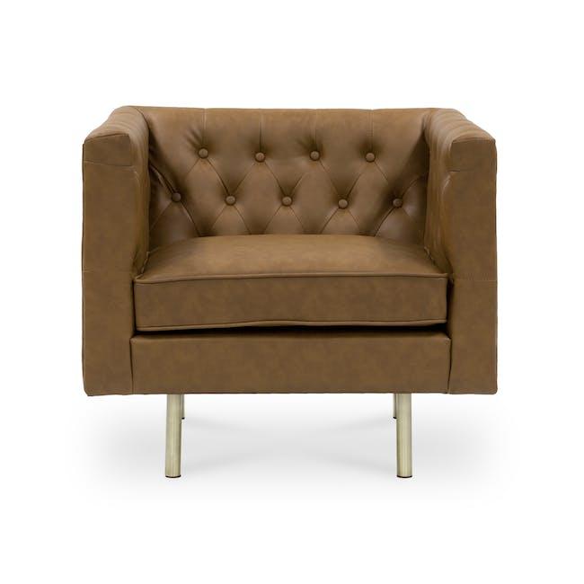 Cadencia Armchair - Tan (Faux Leather) - 0