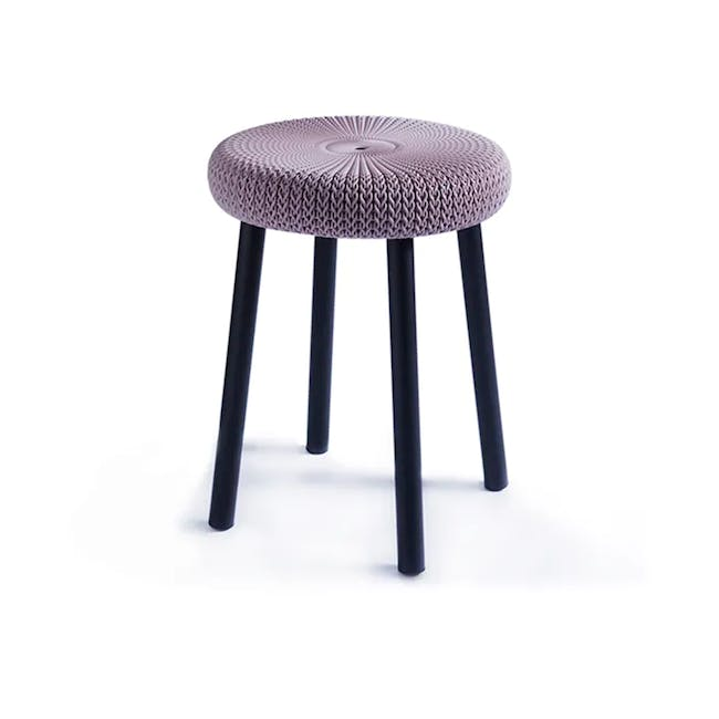 Knit Cozy Outdoor Stool - Violet - 0