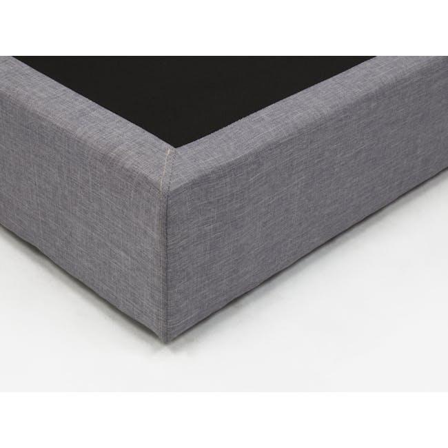 ESSENTIALS Super Single Box Bed - Denim (Fabric) - 4