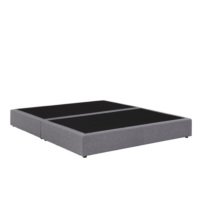 ESSENTIALS Queen Box Bed - Grey (Fabric) - 2