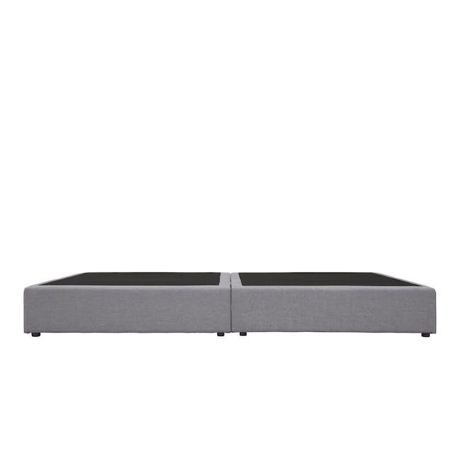 ESSENTIALS Queen Box Bed - Grey (Fabric) - 3