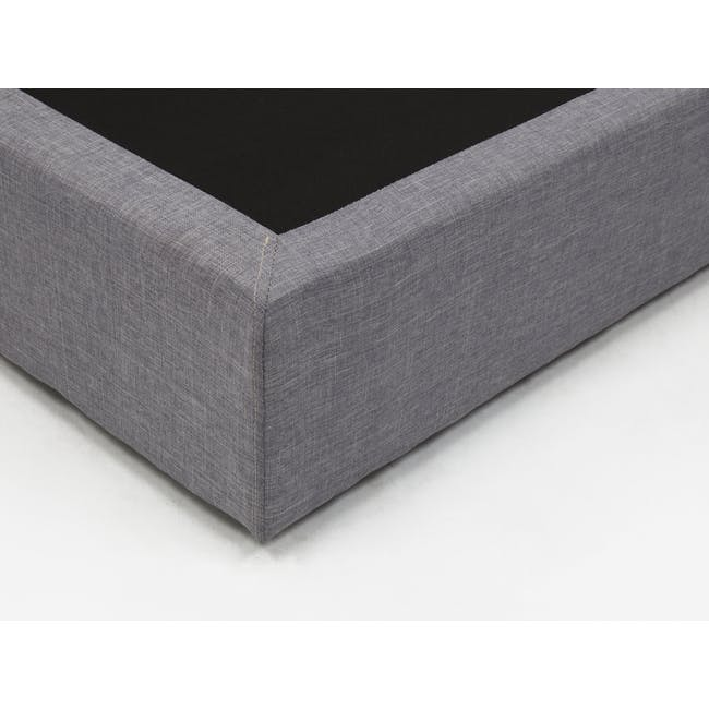 ESSENTIALS Queen Box Bed - Grey (Fabric) - 4