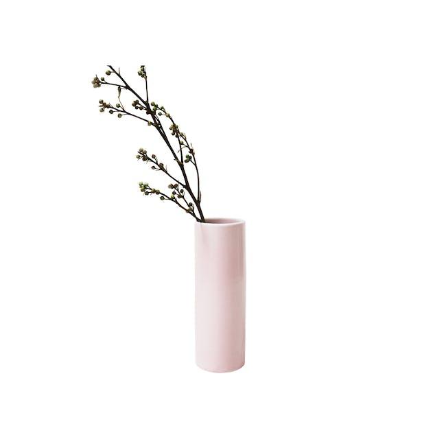 Nordic Matte Vase Medium Straight Cylinder - Dusty Pink - 0