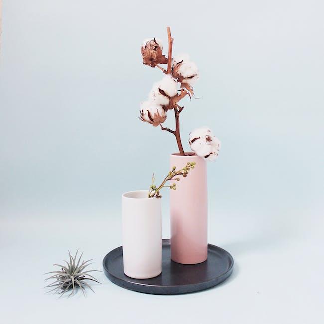 Nordic Matte Vase Medium Straight Cylinder - Dusty Pink - 1