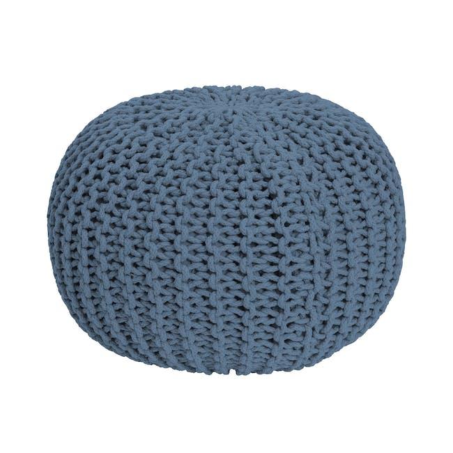 Moana Knitted Pouf - Cobalt Blue - 0