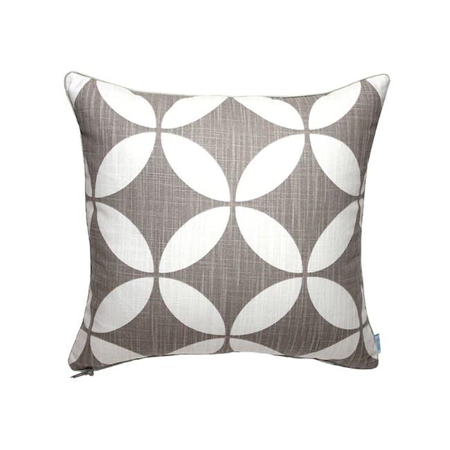 Radiant Square Cushion - Ecru - 0