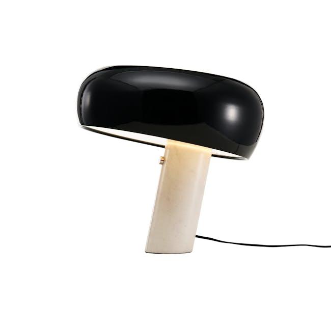 Flos Snoppy Marble Table Lamp - Black - 0