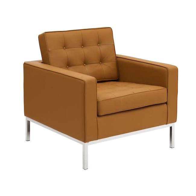 Florence Knoll Armchair Replica - Tan (Genuine Cowhide) - 2
