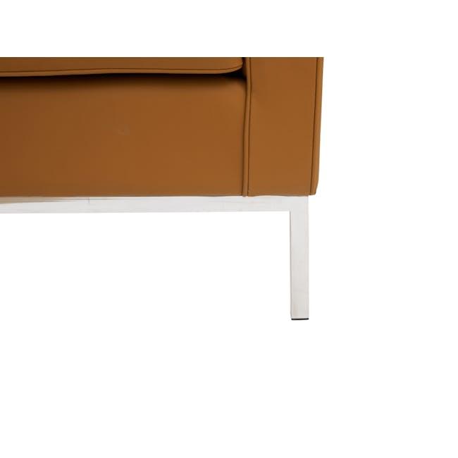 Florence Knoll Armchair Replica - Tan (Genuine Cowhide) - 7