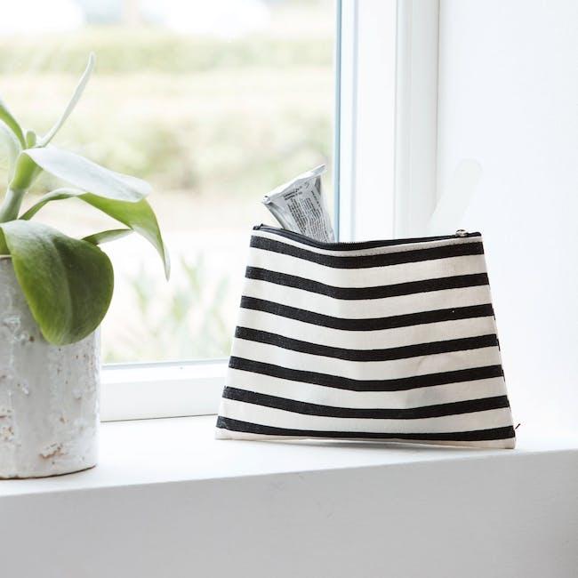 Stripes Makeup Bag - 1