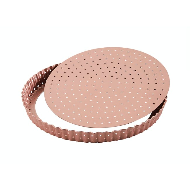 Wiltshire Rose Gold Perforated Round Quiche & Tart Pan - 3