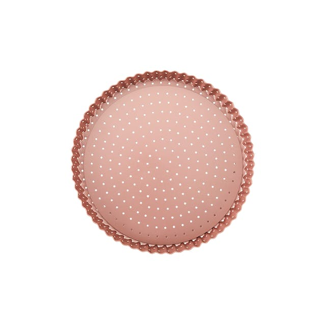 Wiltshire Rose Gold Perforated Round Quiche & Tart Pan - 0