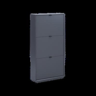 Quen 3 Door Shoe Cabinet - Grey - Image 1