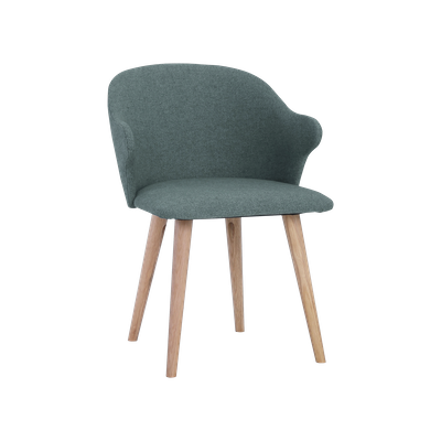 Runa Dining Arm Chair - Marble Blue, Oak - Image 2