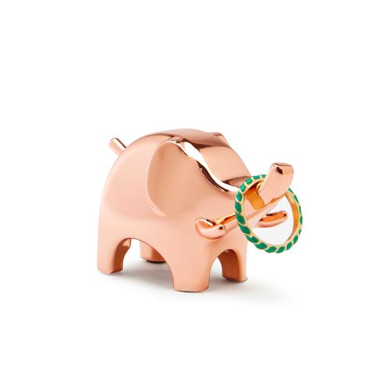 Umbra - Anigram Elephant Ring Holder - Copper