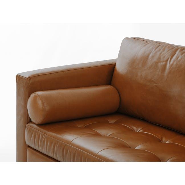 Nolan L-Shaped Sofa - Cigar (Premium Waxed Leather) - 7