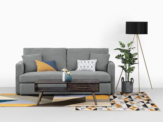 Ashley L Shape Sofa Grey Premium Sofas By Hipvan Hipvan