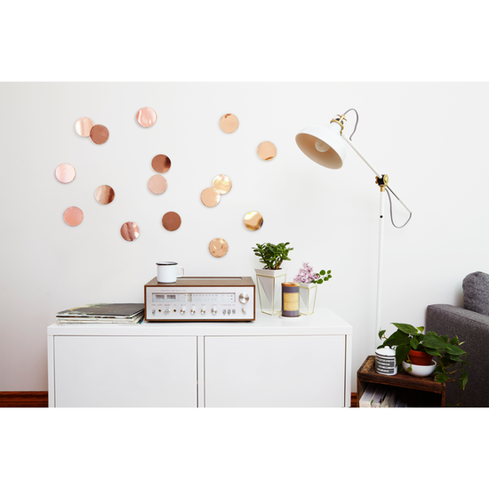 Umbra - Confetti Dots Wall Decal (Set of 16) - Copper