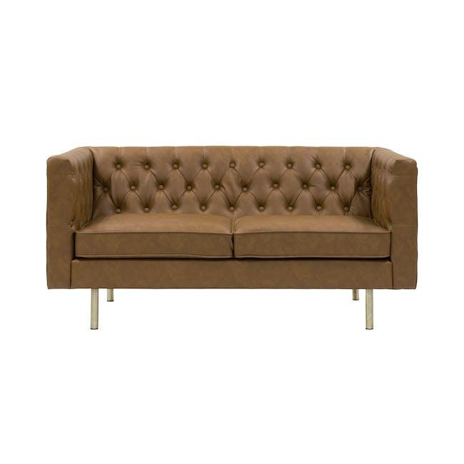 Cadencia 2 Seater Sofa with Cadencia Armchair - Tan - 10