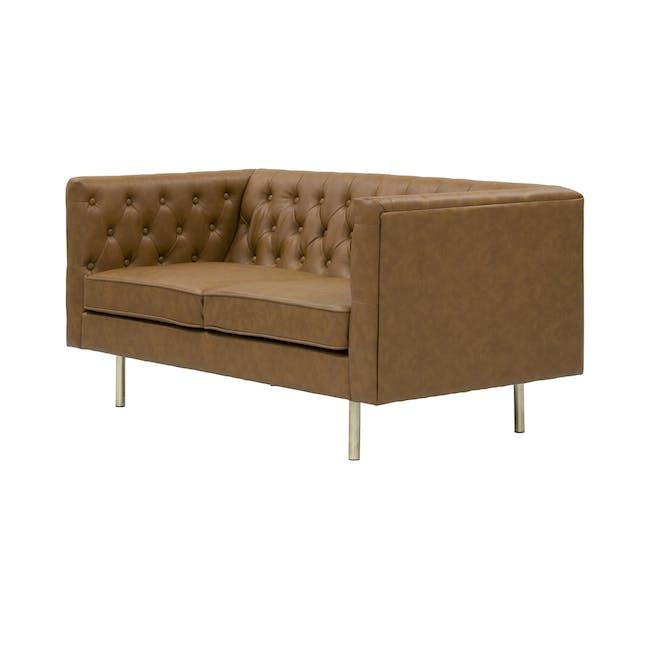 Cadencia 2 Seater Sofa with Cadencia Armchair - Tan - 11