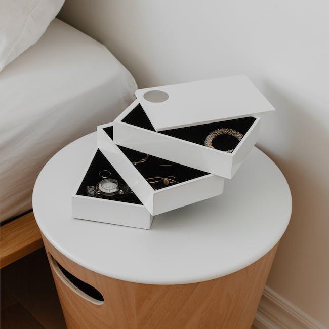 Spindle Storage Box - White - 4