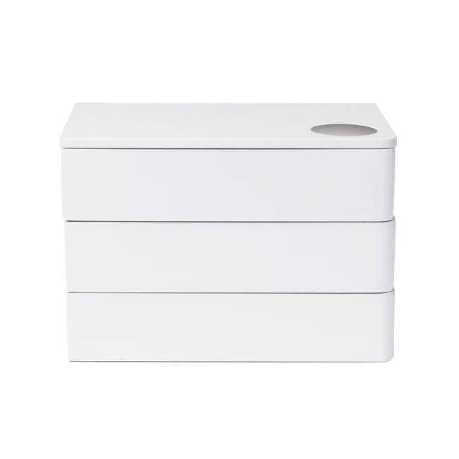 Spindle Storage Box - White - 2