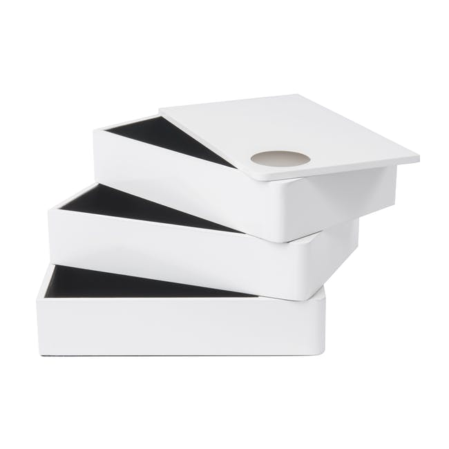 Spindle Storage Box - White - 0