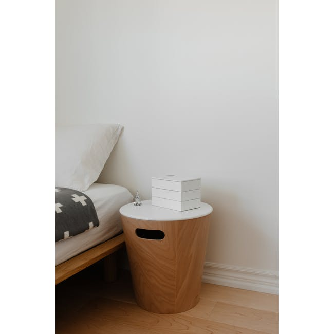 Spindle Storage Box - White - 7