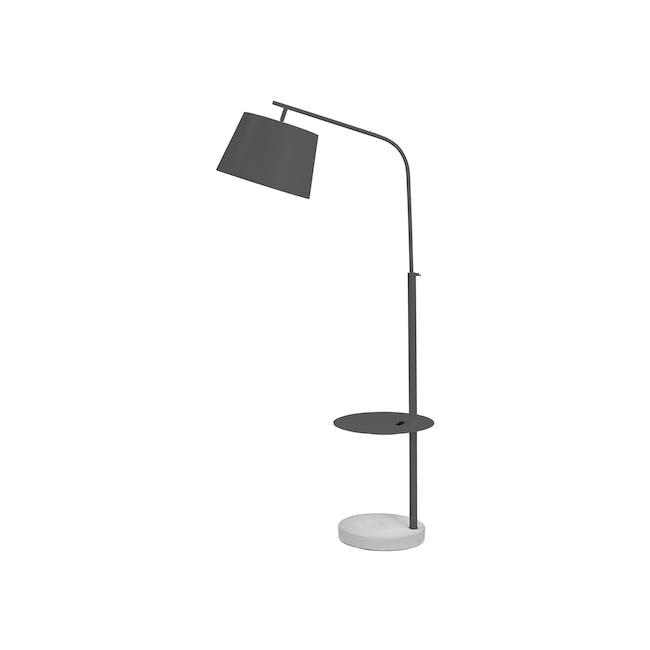 Hudson Floor Lamp with USB Port - Grey - 0