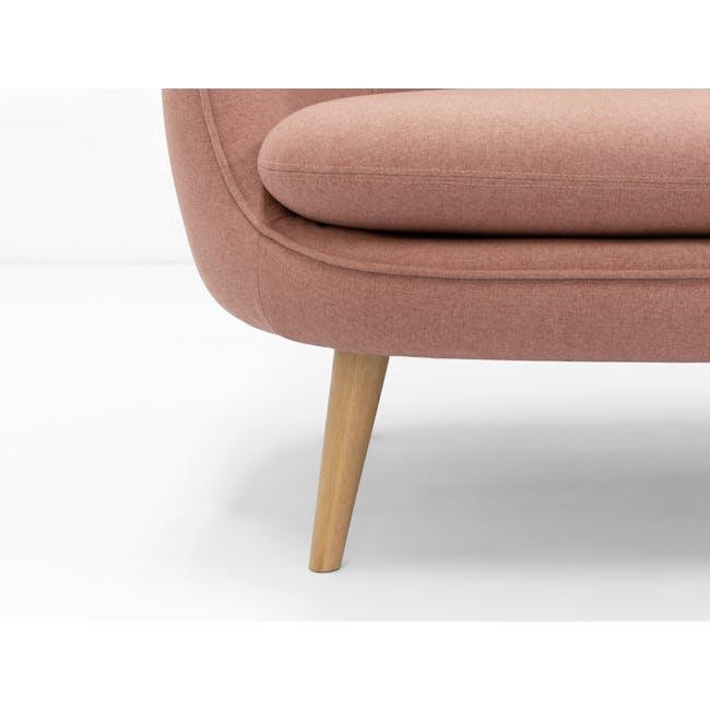 Quinn 2 Seater Sofa with Quinn Armchair - Burnt Umber - 7