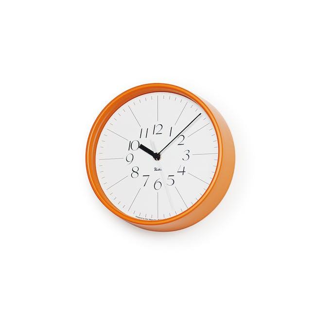 Riki Steel Clock - Orange - 0